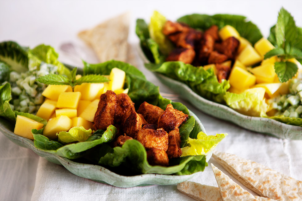 Hähnchen-Mango Salat