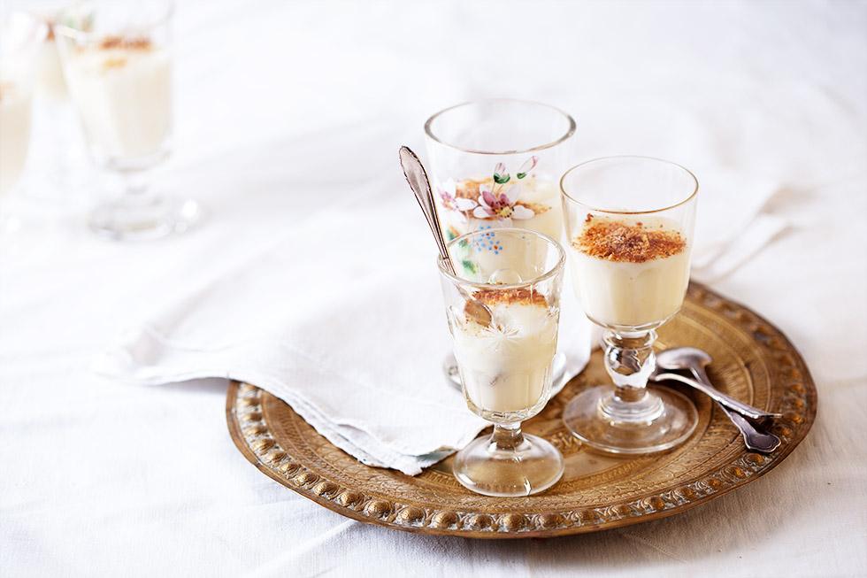 Milchpudding Mit Orangenblütenwasser