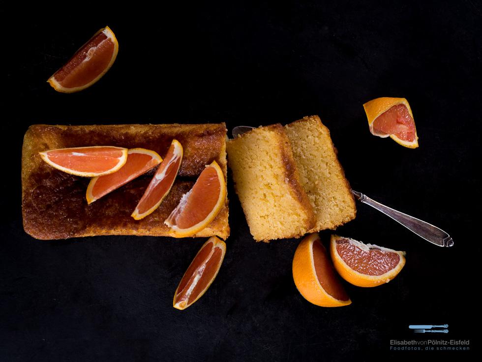 Saftig Getränkter Orangenkuchen. Eine Erfrischung Zum Dessert.