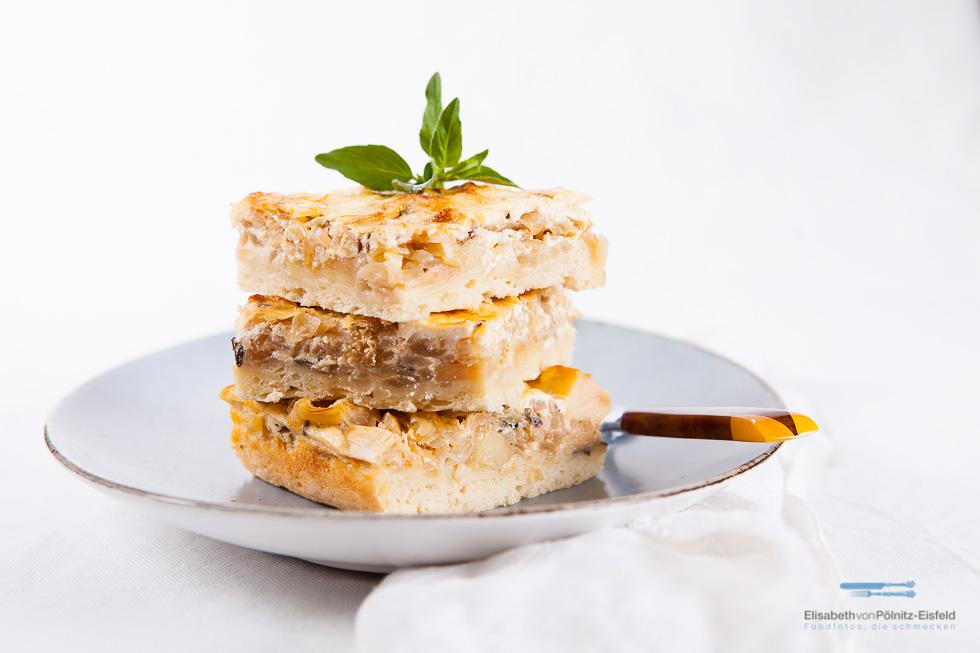 Dieser Zwiebel-Apfelkuchen Mit Quarkguss Ist Ein Echtes Soulfood Für Die Tage Zwischen Winter Und Frühling.