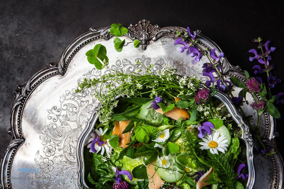 Fränkischer Wiesensalat Mit Geräucherter Forelle #Kunstkochen Für Städelmuseum Und Alnatura (Werbung)
