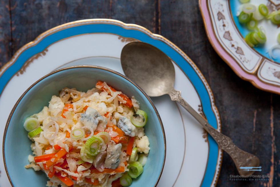 Mit Diesem Blumenkohl-Risotto Mit Nur 4 Punkten, Hast Du Ein Schönes Sättigendes Abendessen Oder Eine Kleine Beilage Zum Fleisch.