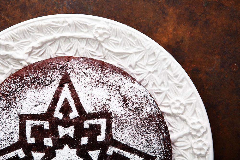 Zartbitter-Schokoladenkuchen Mit Rum/Whiskey