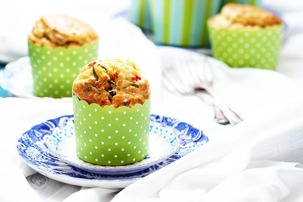 Bärlauch-Paprika-Muffins