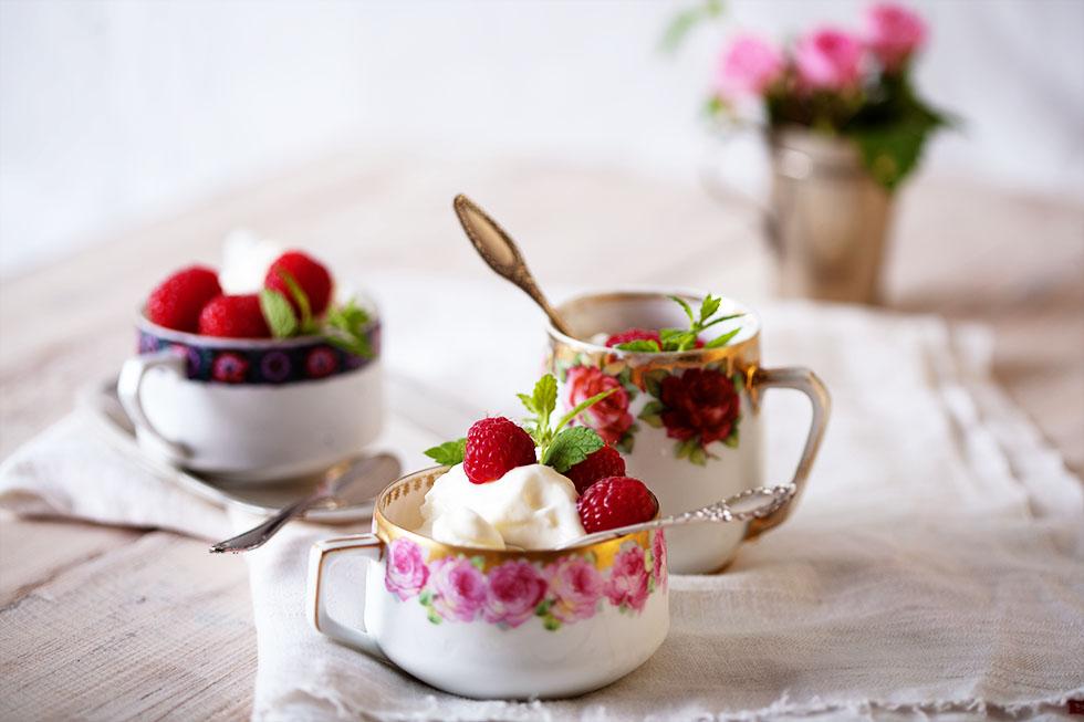 Hollunderblüten Eiscreme