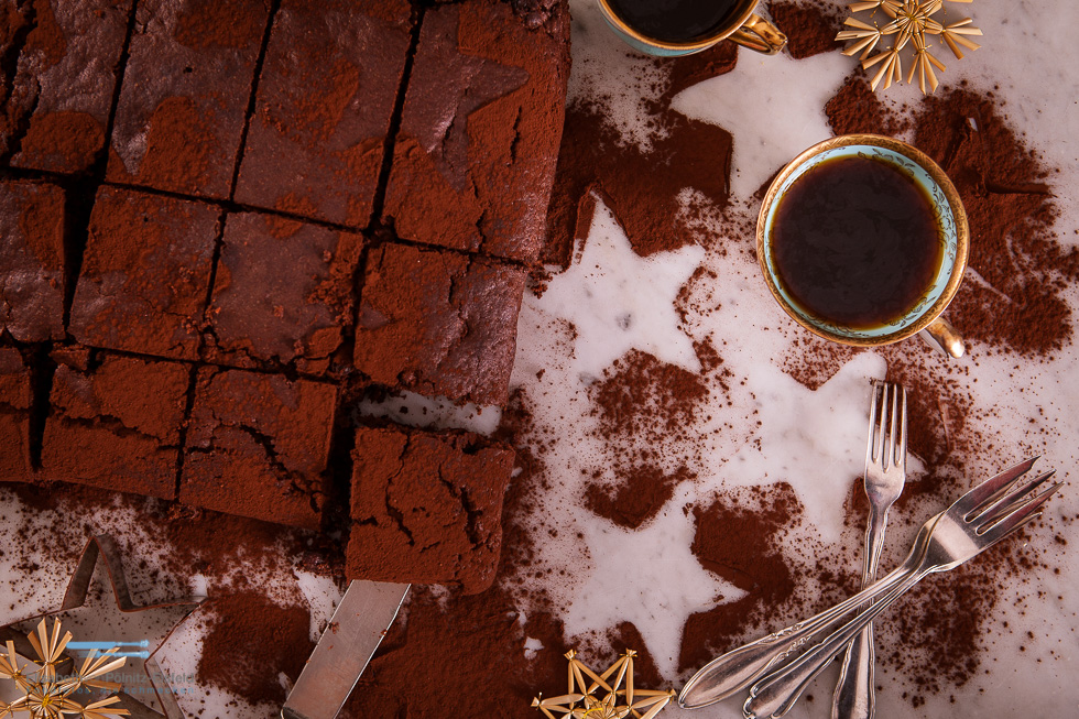 Weihnachts-Brownies Mit Rumrosinen
