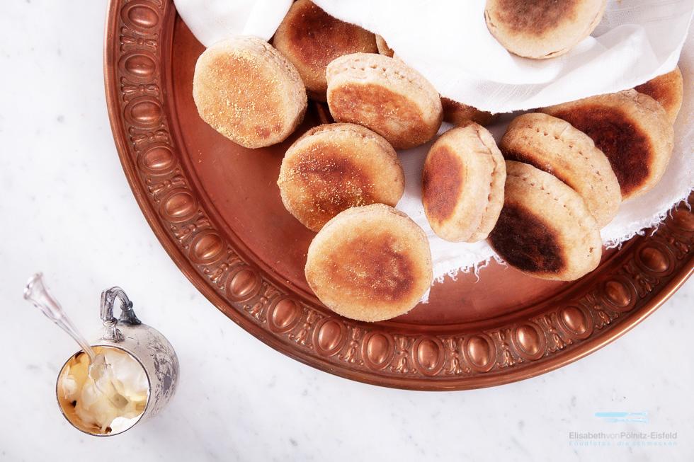 Emmer-Toasties Oder Englische Muffins / BBD #79 – Bread With Biga / Brot Mit Biga