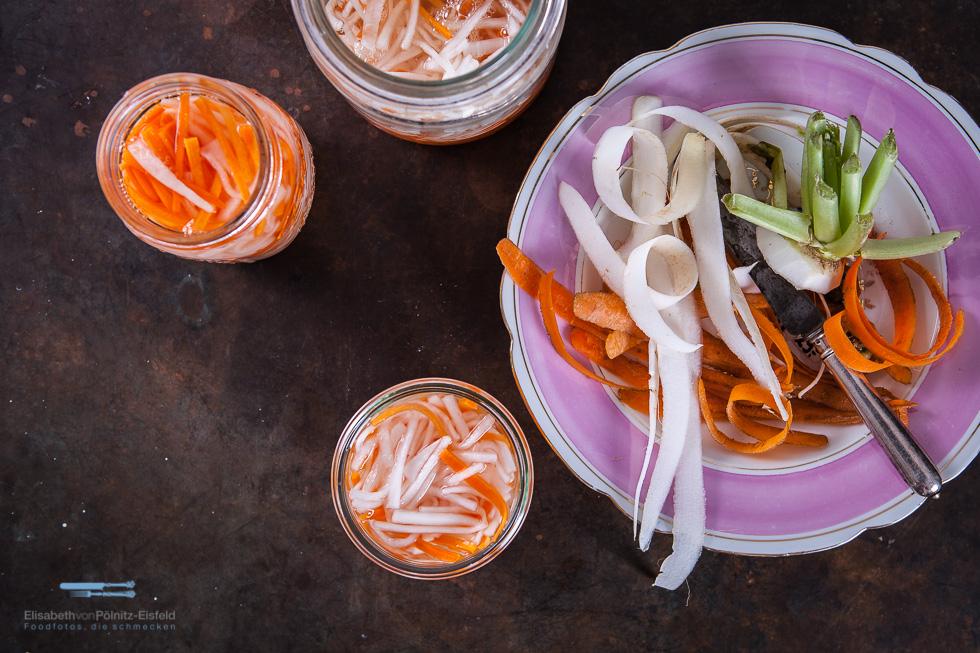 Eingelegte Karotten Und Rettich
