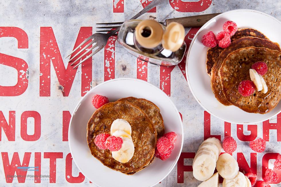 Vollkorn Pancakes (Vegan)