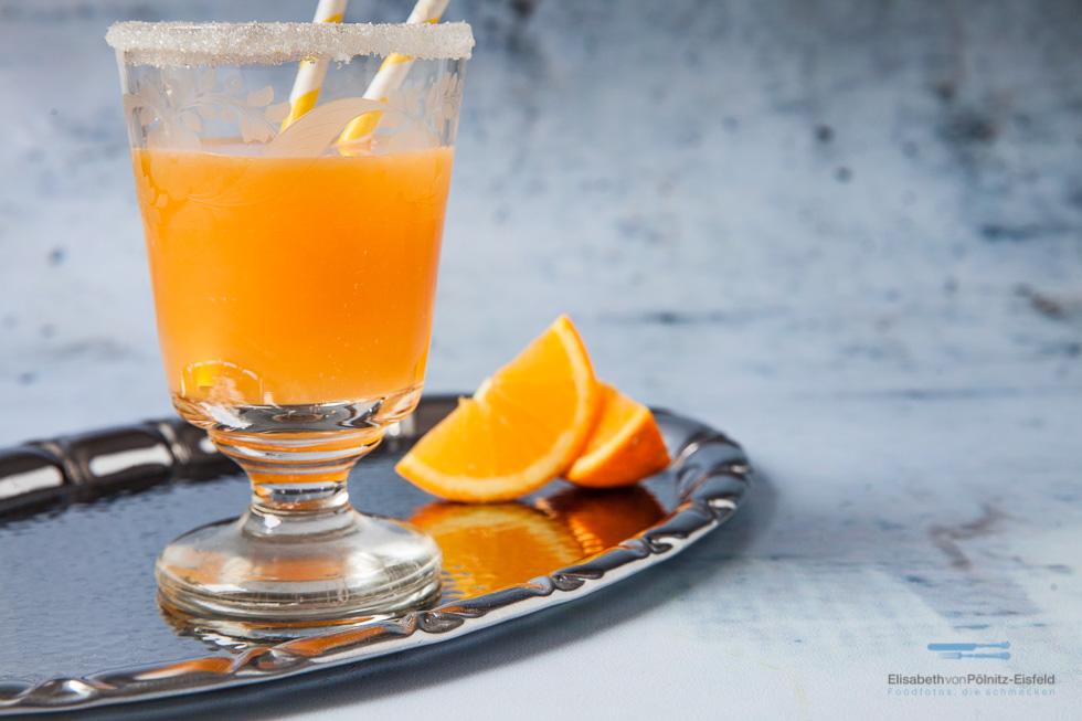 Sunset Cocktail Zum Valentine`s Day