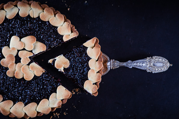 Kuchen mit Schaufel