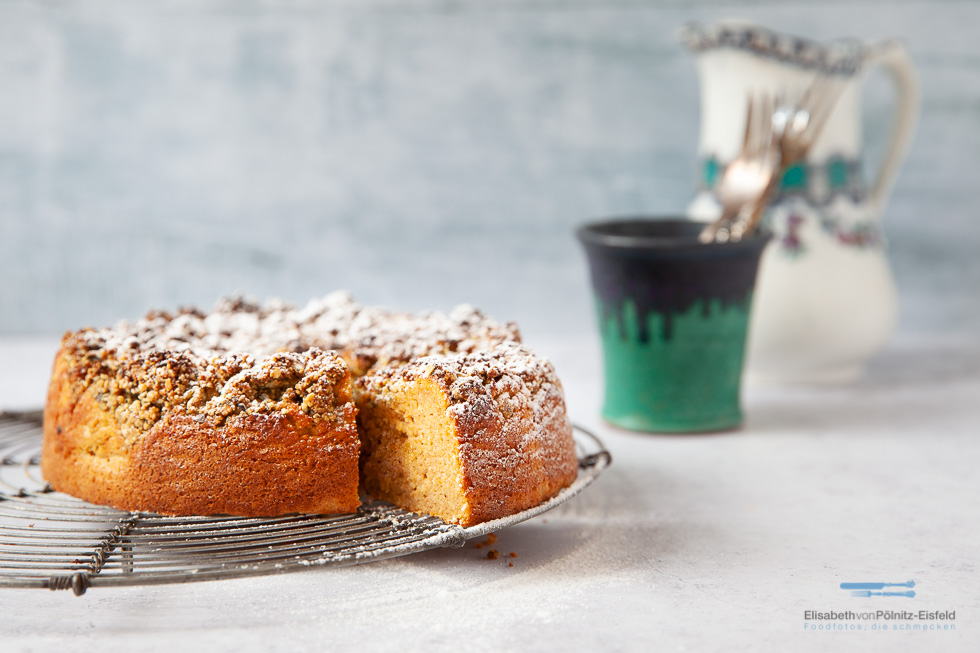 Kuchen Mit Streuseln Und Kürbisteig